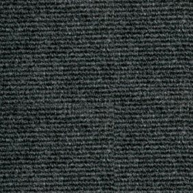 Heckmondwike Broadrib Graphite Carpet Tile